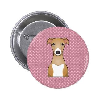 Italian Greyhound Cartoon Button