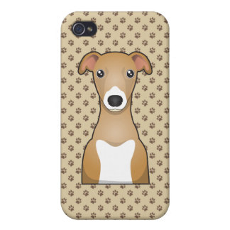 Italian Greyhound Cartoon Covers For iPhone 4