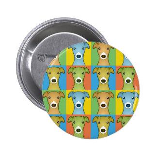 Italian Greyhound Cartoon Pop-Art Pins
