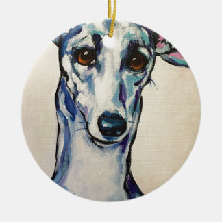 Italian Greyhound Driving Car Christmas Ornament