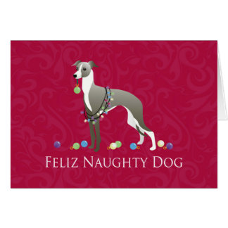Italian Greyhound Christmas Design Card