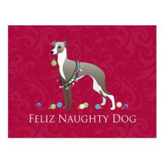 Italian Greyhound Christmas Design Postcard