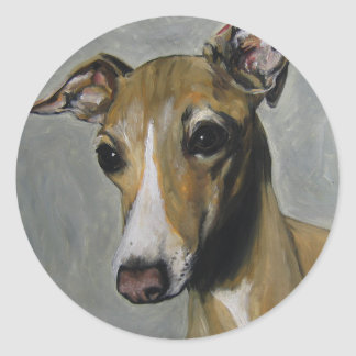 Italian Greyhound Classic Round Sticker