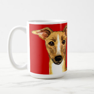 Italian Greyhound Color Block Coffee Mug