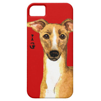 Italian Greyhound Color Block iPhone SE/5/5s Case