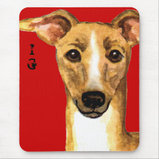 Italian Greyhound Color Block Mouse Pad