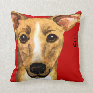 Italian Greyhound Color Block Throw Pillow