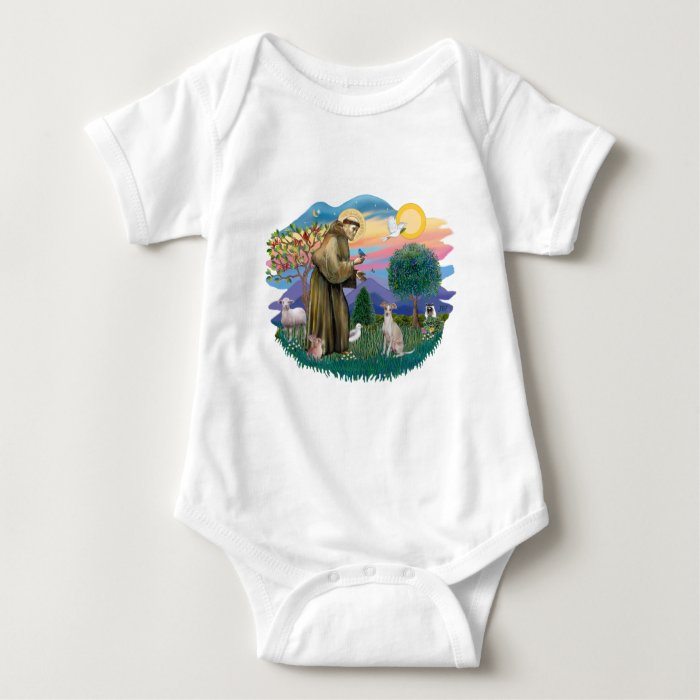 Italian Greyhound (cream) Baby Bodysuit