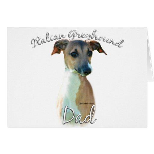 Italian Greyhound Dad 2 Greeting Cards