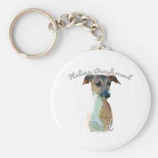 Italian Greyhound Dad 2 Keychain