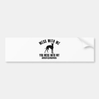 italian greyhound design bumper sticker