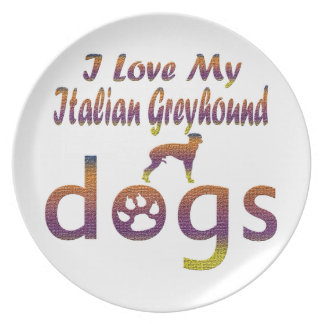 Italian Greyhound designs Party Plate