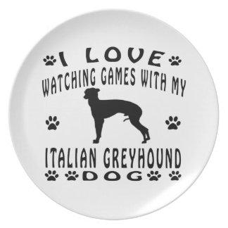 Italian Greyhound designs Plates