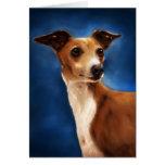 Italian Greyhound Dog Art - Magnifico Card