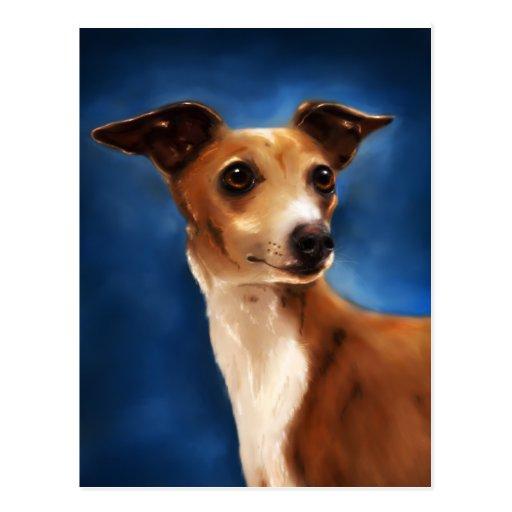 Italian Greyhound Dog Art - Magnifico Postcards