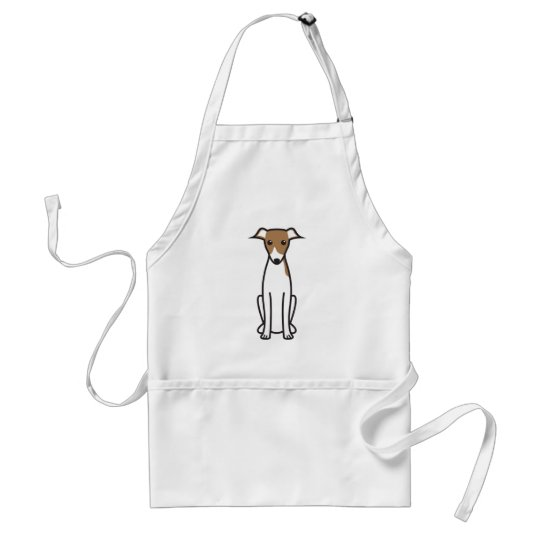 Italian Greyhound Dog Cartoon Adult Apron