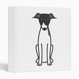 Italian Greyhound Dog Cartoon 3 Ring Binders
