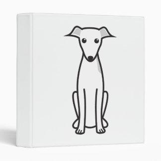 Italian Greyhound Dog Cartoon 3 Ring Binder