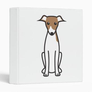 Italian Greyhound Dog Cartoon Vinyl Binders