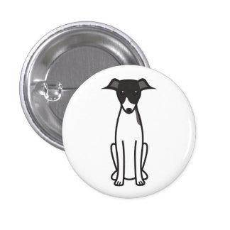 Italian Greyhound Dog Cartoon Button