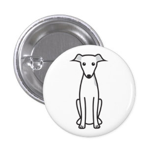 Italian Greyhound Dog Cartoon Pinback Button