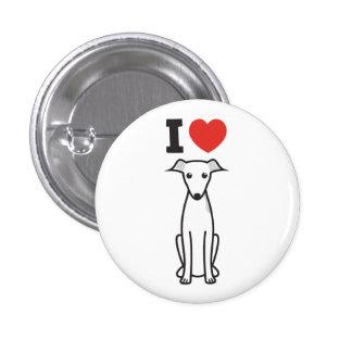 Italian Greyhound Dog Cartoon Pin
