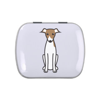 Italian Greyhound Dog Cartoon Candy Tin
