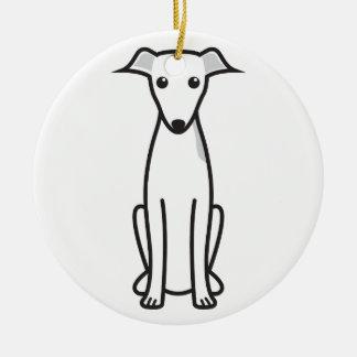 Italian Greyhound Dog Cartoon Ceramic Ornament