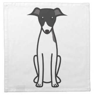 Italian Greyhound Dog Cartoon Cloth Napkin