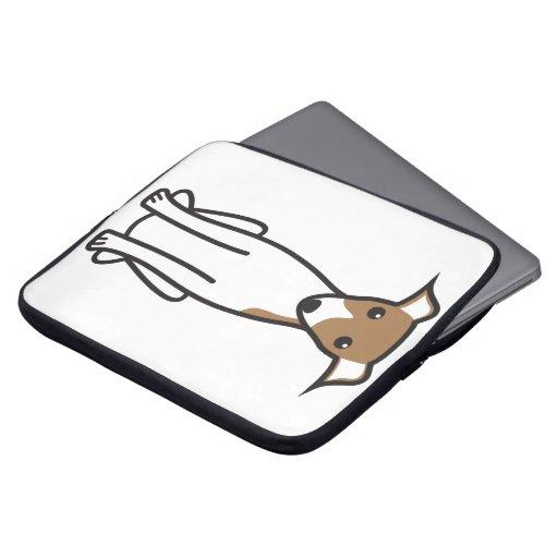 Italian Greyhound Dog Cartoon Computer Sleeve