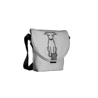Italian Greyhound Dog Cartoon Courier Bag