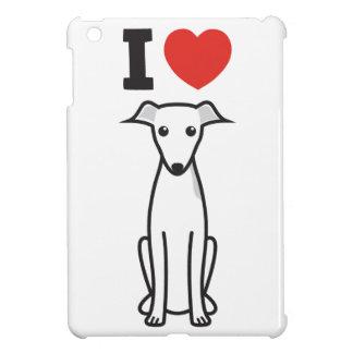 Italian Greyhound Dog Cartoon iPad Mini Cover