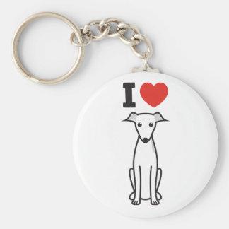 Italian Greyhound Dog Cartoon Keychain