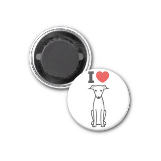 Italian Greyhound Dog Cartoon Refrigerator Magnets