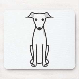 Italian Greyhound Dog Cartoon Mouse Pad