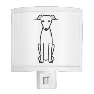 Italian Greyhound Dog Cartoon Night Light