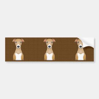 Italian Greyhound Dog Cartoon Paws Car Bumper Sticker