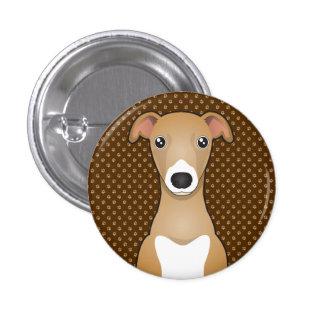 Italian Greyhound Dog Cartoon Paws Pins