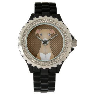 Italian Greyhound Dog Cartoon Paws Wristwatch