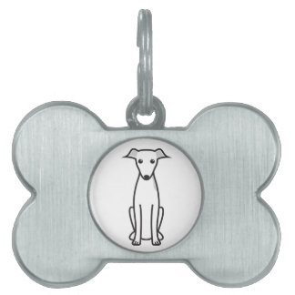 Italian Greyhound Dog Cartoon Pet Tags