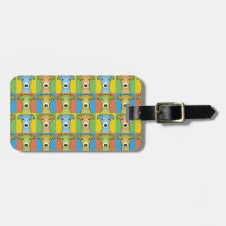Italian Greyhound Dog Cartoon Pop-Art Tag For Luggage