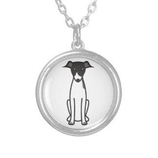 Italian Greyhound Dog Cartoon Silver Plated Necklace
