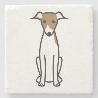 Italian Greyhound Dog Cartoon Stone Coaster