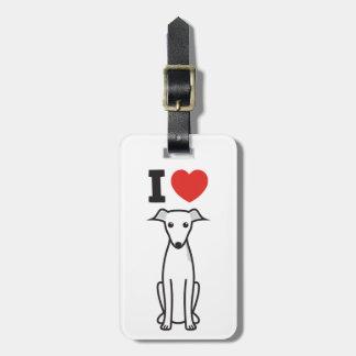 Italian Greyhound Dog Cartoon Tag For Luggage