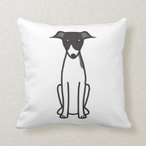 Italian Greyhound Dog Cartoon Throw Pillow