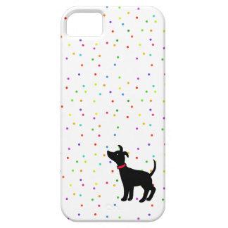 Italian Greyhound Dog Rainbow Sprinkle Polka Dot iPhone SE/5/5s Case