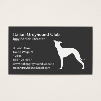 greyhound gift card italian greyhound silhouette gifts on zazzle 637