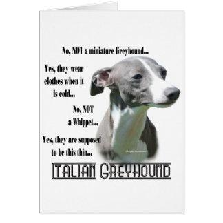 Italian Greyhound FAQ Greeting Card