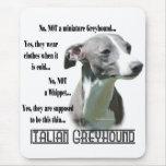 Italian Greyhound FAQ Mouse Mat