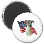 Italian Greyhound Flag Magnet